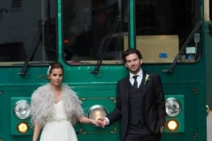 bride & groom trolley
